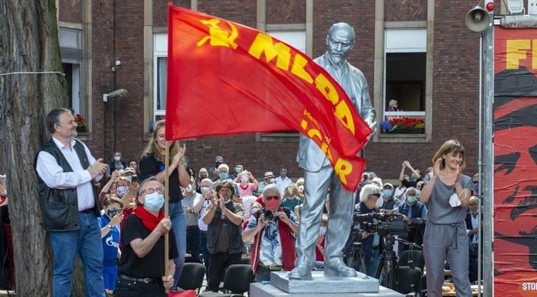 Stefan Engel Rede zur Enthüllung der Lenin-Statue am 20.6